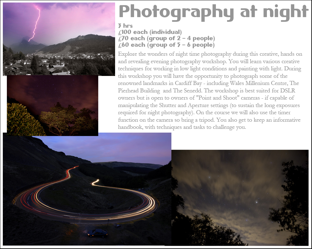 night photography classes tuition